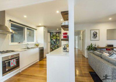 white built kitchen renovation