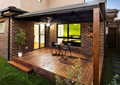 decking and pergola on new home