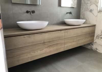 twin basin bathroom renovation