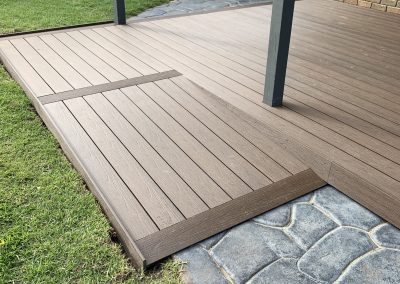 timber decking to link home to garden