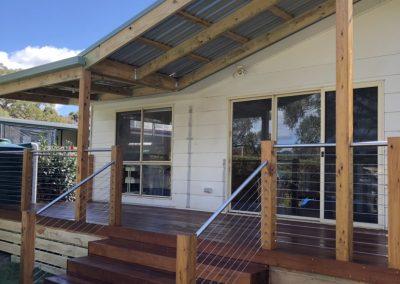 Veranda and roof renovation project